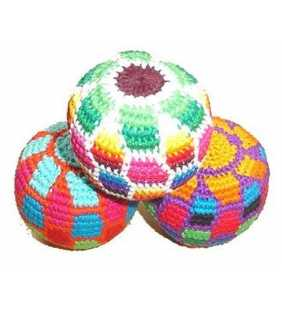 Crocheted cotton Hacky sacks juggling balls soccer Guatemala antistress