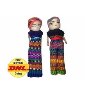 Worry dolls 3 inches tall handmade in Guatemala