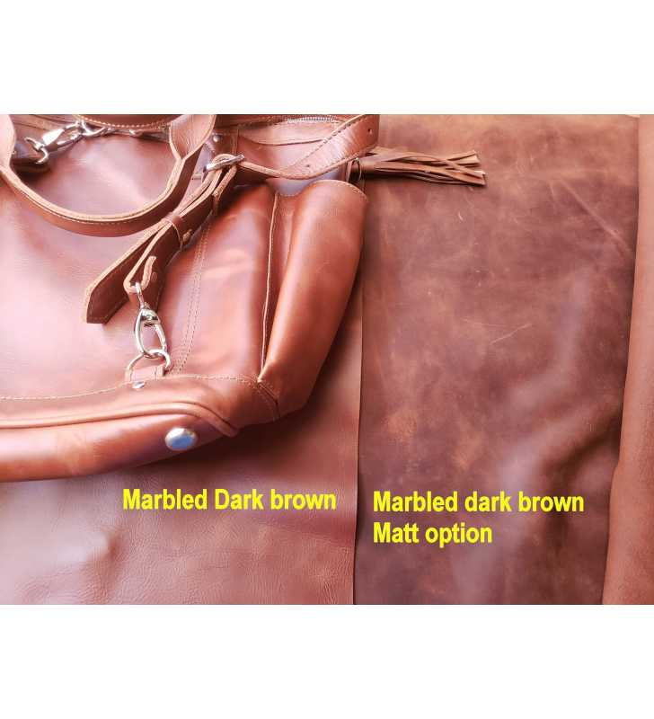 Comparison Brown leather vs Soft brown leather