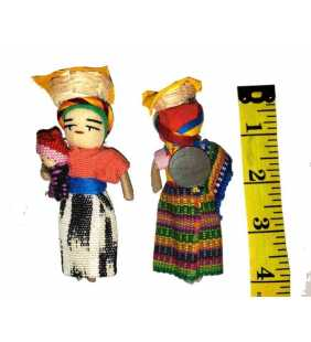 Magnet worry dolls 4 inches tall handmade in Guatemala