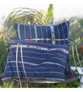Guatemalan Indigo handembroidery Pillow cover