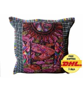 Guatemalan Upcycled Huipil Pillow cover