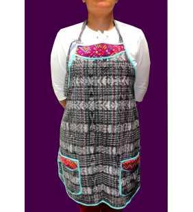 Guatemalan cotton huipil apron