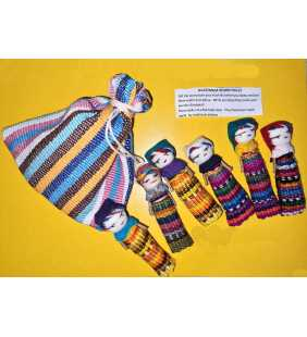 6 Dolls in a cotton pouch (Worry dolls)