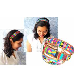 Guatemalan authentic braided leather Hairband headband hair holder