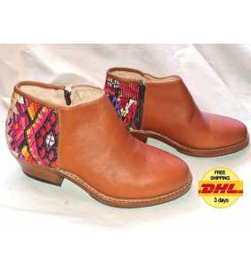 Handmade Guatemalan authentic leather Ankle boots customizable