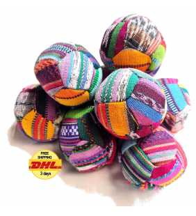 Cotton Spot Hacky sacks juggling balls Guatemala antistress